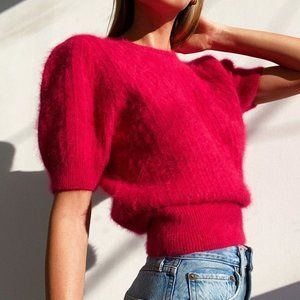 Vintage Electric Pink Angora Sweater